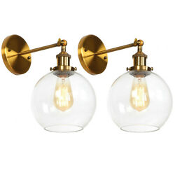 2pcs Adjustable Glass Wall Light Ceiling Sconce Retro Wall Bedroom Lamps E26 $39.89