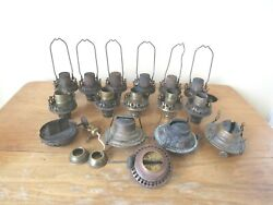 Lot of Vintage Lamp Oil Burners and Some Parts $34.99