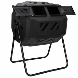 Chambers Composting Tumbler 43 Gallon Dual Outdoor Gardening Large Compost Bin $69.54