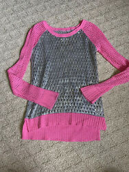 P.S. FROM AEROPOSTALE GIRLS 8 LONG SLEEVED TOP SHIRT PINK SPARKLY KIDS PS EUC $5.90