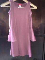 1st Kiss Girls Dress Size 7 8 Short Sleeve Soft Stretch Pre Owned Bell Sleeves $5.90
