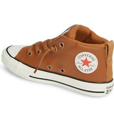 Converse All Star Boys#x27; kids#x27; Chuck Taylor Street Leather Sneakers Shoes 2 $19.00