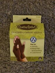 Dritz Creative Comfort Crafter#x27;s Comfort Gloves Brown Small $12.99