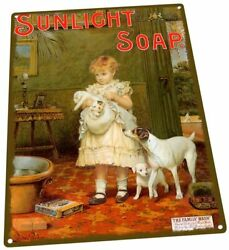 Sunlight Soap Laundry Bathroom Vintage Metal Tin Sign 12X16 Inches $29.95