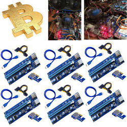 10pack Ethereum PCI E 1x to 16x Powered USB3.0 GPU Riser Extender Adapter Card $65.96