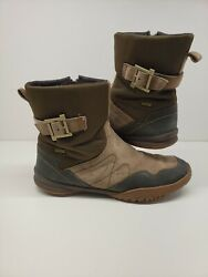 MERRELL Womens Boots Dry Albany Sky US 9 Waterproof Leather Espresso Preowned $39.95