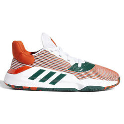 Adidas Pro Bounce 2019 Low Mens Basketball Shoes Miami Hurricanes Size 9.5 $59.89