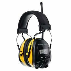 Digital AM FM Radio Headphones Ear Protection Safety Ear Electronic Yellow $76.05
