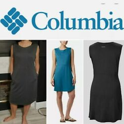 Columbia Black Ladies#x27; Cute Dress with Pockets and Sun Protection 30 UPF Light