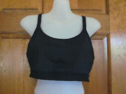 $38 CHAMPION BRA C9 RUNNING YOGA COMP BLACK RACERBACK NO WIRE MEDIUM 34 36 B C $9.00