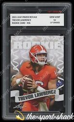 🌟2021 21 Trevor Lawrence Leaf Pro Set Rookie 1st Graded 10 All American RC Card $100.00