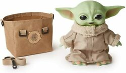 Star Wars The Mandalorian The Child Grogu 11quot; Talking Baby Yoda Carrying Satchel $39.99