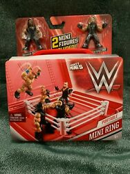 WWE PORTABLE MINI RING MIGHTY MINIS 2 FIGURES amp; RING ROMAN REIGNS amp; SETH ROLLINS $14.99