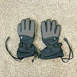 Mountain Hardwear Gloves Men#x27;s Gore Tex Winter Gloves Leather Palm Size Small $30.00