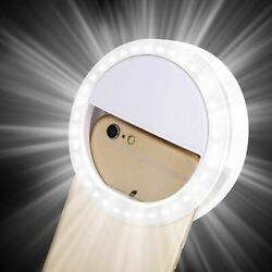 For iPhone Android Phone Selfie Portable LED Ring Fill Light Camera Photography $6.99