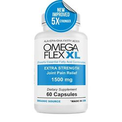 Omega Flex XL NEW IMPROVED Extra Strength 3 Potent Joint Pain Relief 60 ct $29.99