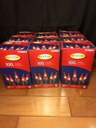 Holiday Living Red Mini Christmas Lights 100ct Green Wire Birthday St. Patrick