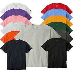 Champion Crew Neck Short Sleeve T Shirt T425 6oz Jersey Tee Pick Color Size $10.79