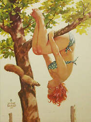 Hilda Hanging in tree with Squirrell $14.95