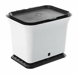 Odor Free Kitchen Compost Bin Black and White Black amp; White Fresh Air $41.48