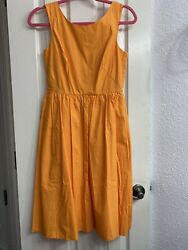 NWT J Crew Orange Dress Size 0P With Pockets