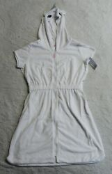 Carter#x27;s Girl#x27;s Unicorn Hooded Cover Up CD4 White Size 12 NWT $19.99