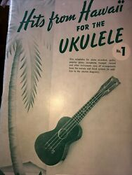 quot;Hits From Hawaii For The Ukulelequot; Original 32 song book 1950 Miller Music Corp. $10.77