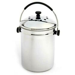 Stainless Steel Kitchen Compost Keeper Bin with Charcoal Filter $78.00