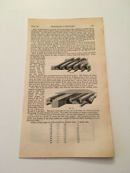 K71 Double Floor With Binding Joists 673 Architecture History 1842 Engraving $9.95