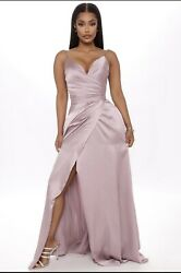 Yilis Women#x27;s A Line Slit Satin Evening Prom Dress Long Party Gown With Pockets $45.00