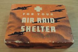 VTG 1942 WWII Homefront #x27;Comic NOVELTY#x27; quot;For Your AIR RAID SHELTERquot; Vallejo CAL $55.00