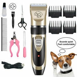 Pet Dog Cat Electric Grooming Kits Hair Trimmer Groomer Razor Quiet Clipper $20.99