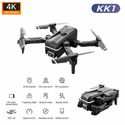 KK1 RC Drone With Camera 4K Wifi FPV Folding Quadcopter Toy Gifts For Kids W4F2 $34.67