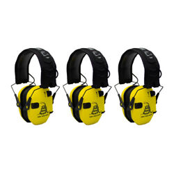 Walker's Razor Shooting Muffs Don#x27;t Tread On Me Yellow 3 Pack $134.95