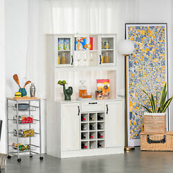 Large Kitchen Storage Pantry with Adjustable Shelves and Optional Wine Rack $315.99