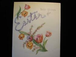 VINTAGE quot;FOR AN EASTER FULL OF CHEER quot; EASTER GREETING CARD $2.00