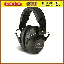 Walker#x27;s Game Muff Ear Shooting Protection Low Profile Pro Folding Hearing Black $13.74