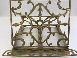 Vintage Solid Cast Brass Book Stand $33.00