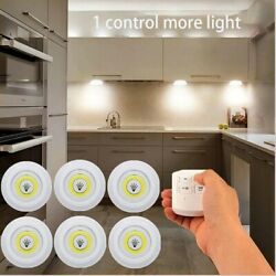 3W Under Cabinet Light LED Wireless Remote Control Wardrobe Night Lamp Kitchen $22.25