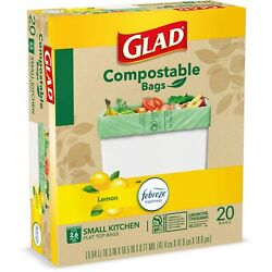 3Pack Glad Compost Small Kitchen Trash Bags 2.6 Gallon 20 Bags $26.99