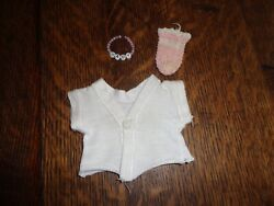 VINTAGE AMERICAN CHARACTER TINY TEARS SMALL BOOTIE SHIRT amp; BABY BRACELET $24.99
