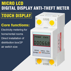 Digital Energy Wattmeter Wattage Electricity Power Consumption Meter 250V 60A $10.69