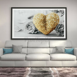 Hanging Living Room Home Bedroom Wall Painting Canvas Heart Rose Print Unframed $14.72
