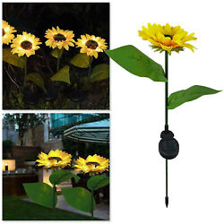 Sun Flower Solar Waterproof Sun Flower Lamps Solar Landscape Lights Pathway $12.63