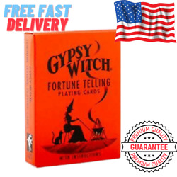 Gypsy Witch Fortune Telling Playing Cards Divination Vintage With Instructions $6.49