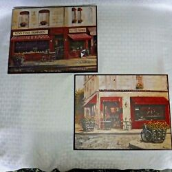 2 CREATIVE PRODUCTS Italian CAFE Wall Hanging WOOD Wall Plaque 8quot; X 10quot; $12.95