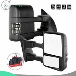 Manual Side Signal LED Towing For 2008 2017 2018 Ford F 350 Super Duty Mirrors $148.99