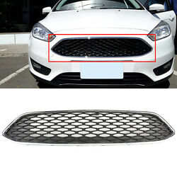 Fit 2015 2018 Ford Focus Front Upper Painted Black Mesh Grille $36.99