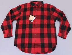 Blue Mountain Women#x27;s L S Relaxed Solid Rib Henley AN3 Red Large NWT $8.49
