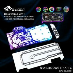NEW GPU Water Cooling Block Liquid Cooler With Plate Lot For ASUS RTX3080 3090 $55.00